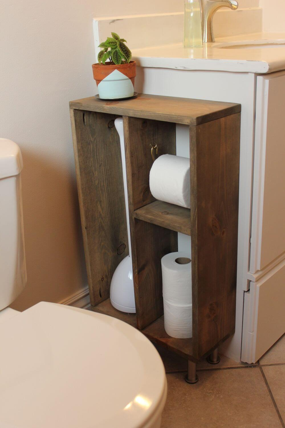 Narrow Sink-Side Toilet Paper Caddy
