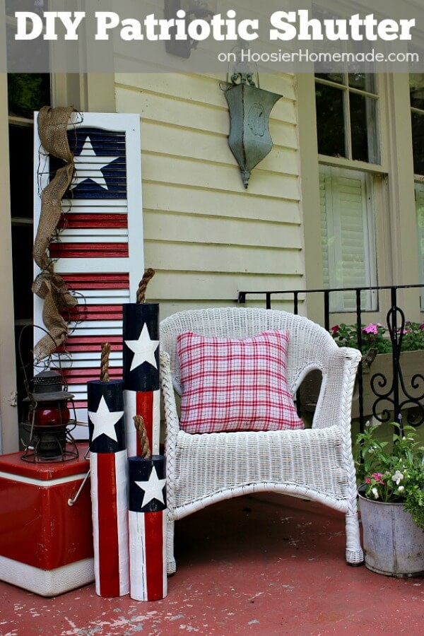 Festive Fourth of July Shutters