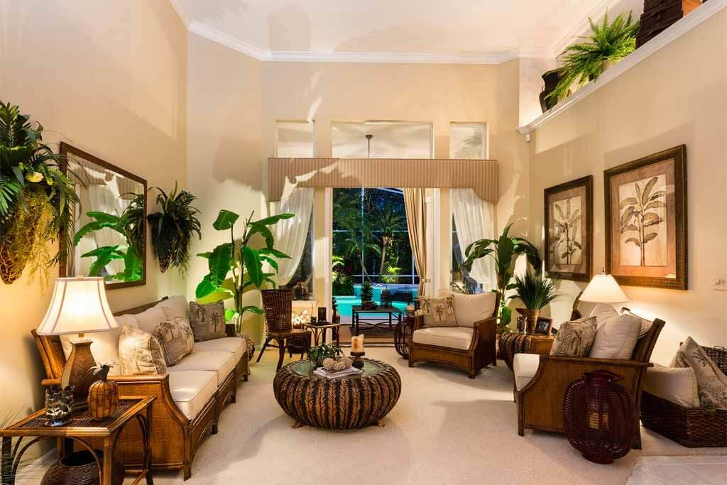 Beautiful Tropical Style Living Room For Relaxation