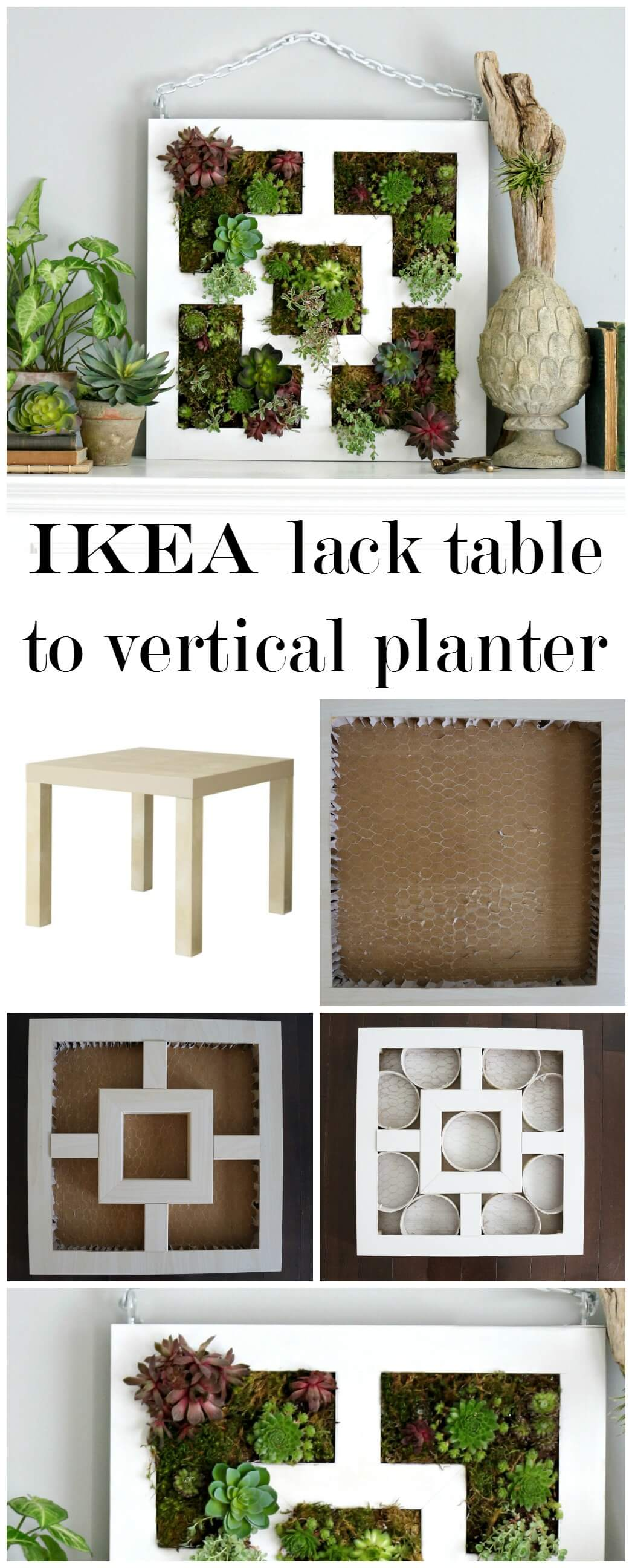 Repurpose a Table as a Vertical Planter