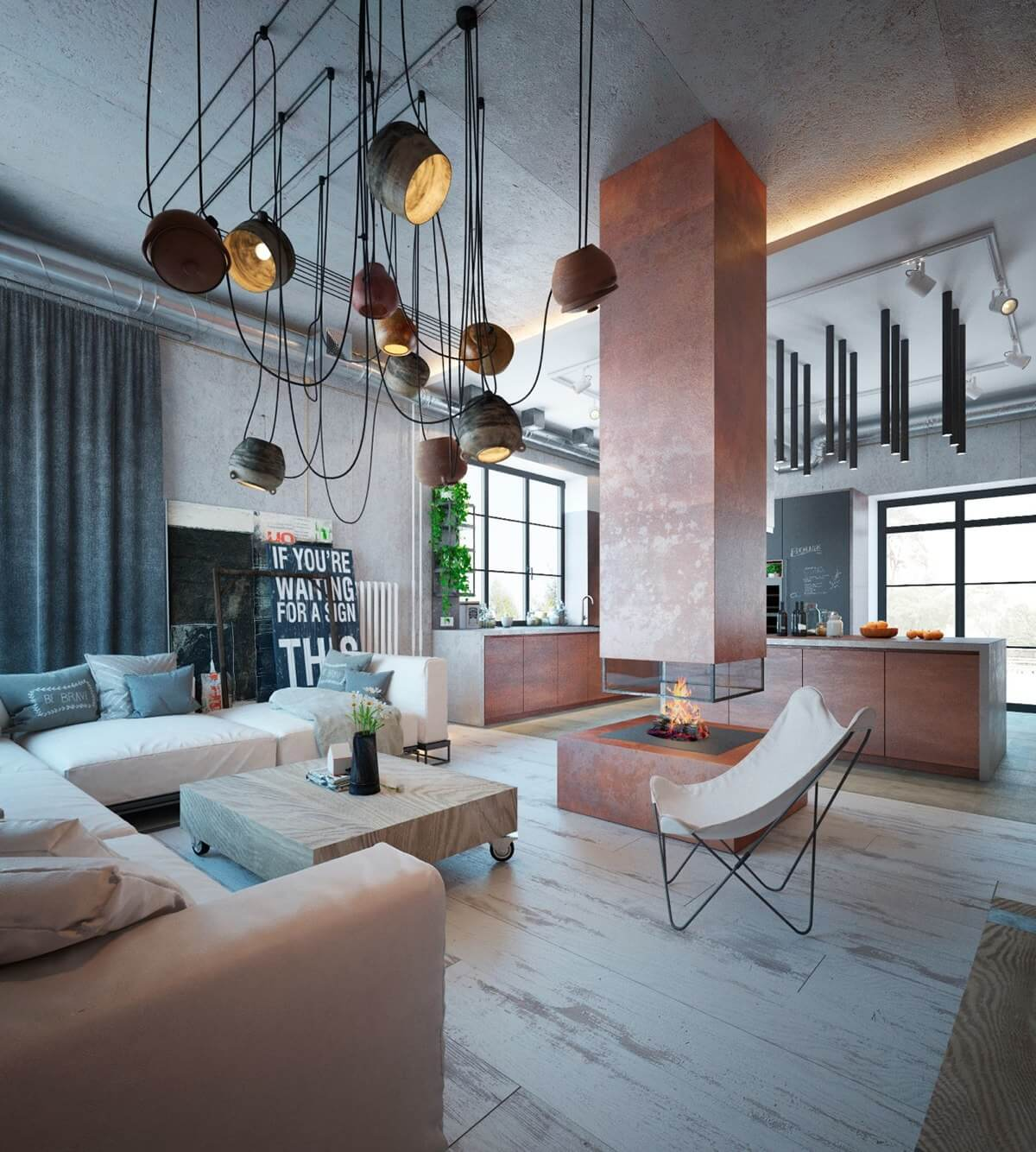 Industrial Home Design Spectacular Modern Industrial Home: 36 Best Industrial Home Decor Ideas And Designs For 2019
