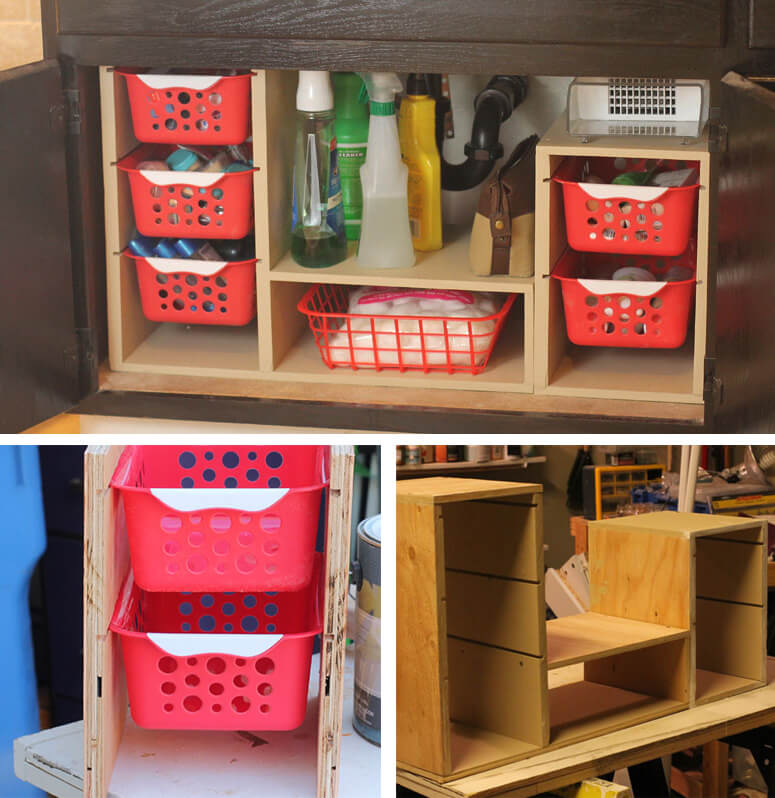 Under-Sink Organizing Drawer Unit