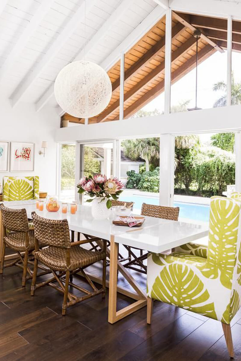 Poolside Dining with Inviting Chairs