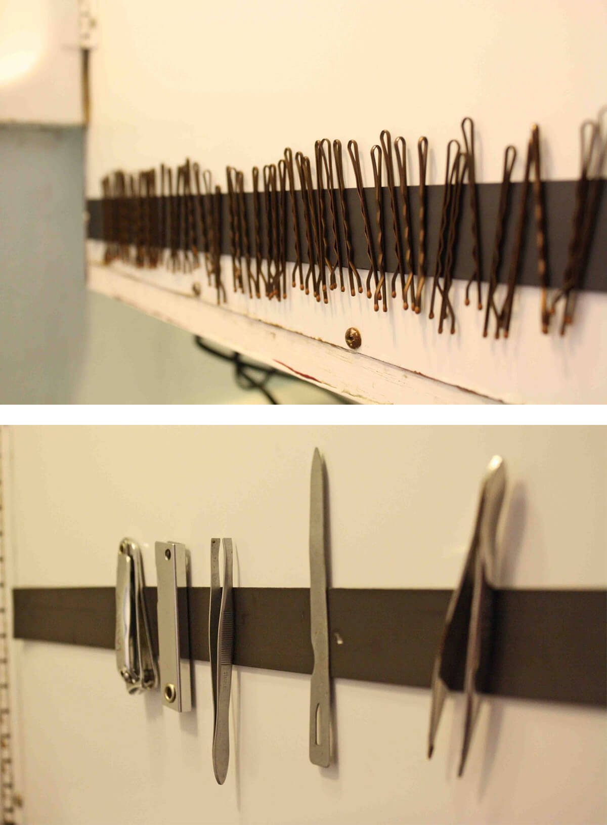 Magnetic Strip Organizers for Tiny Bathroom Essentials
