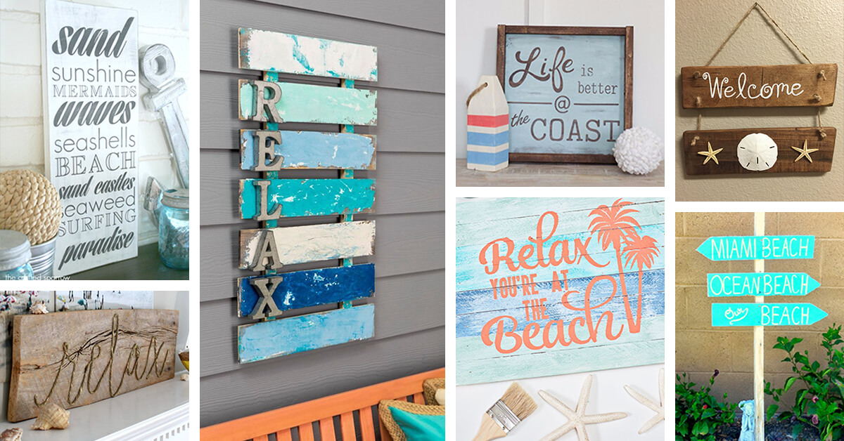 27 Best Beach Themed Wooden Signs Ideas And Designs For 2019
