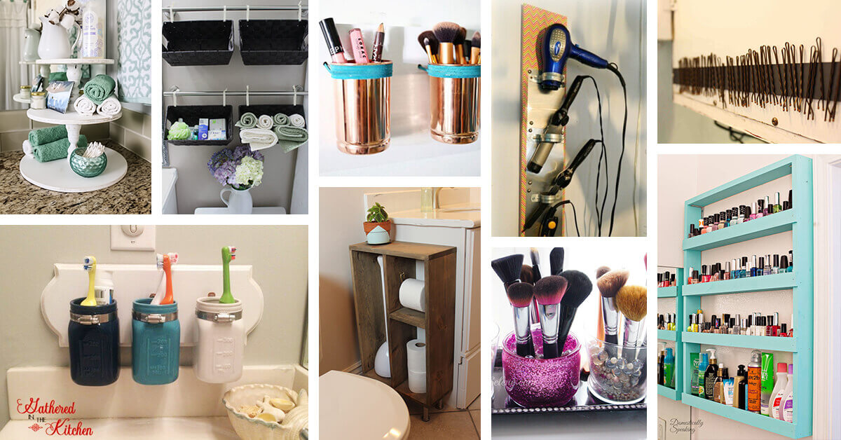 42 Best DIY Bathroom Storage And Organizing Ideas For 2021