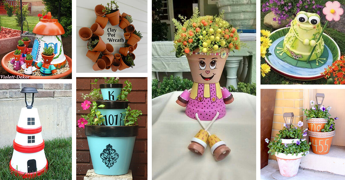 28 Best Diy Clay Flower Pot Crafts Ideas And Designs For 2019