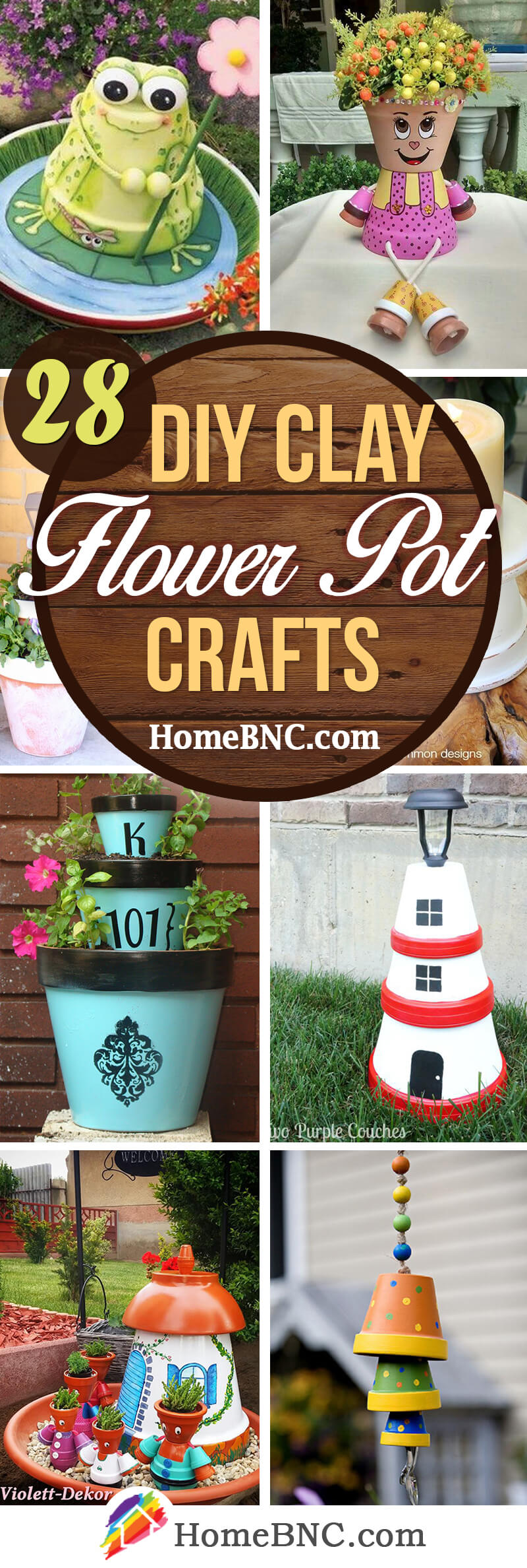 DIY Clay Flower Pots