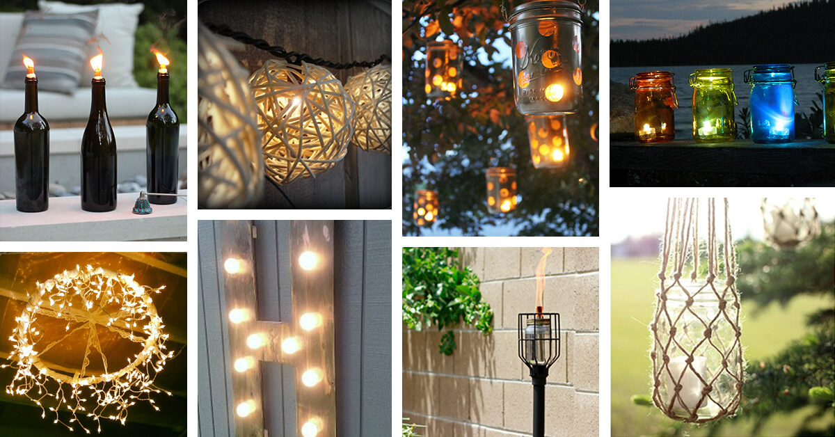 diy outdoor lighting ideas diy backyard homebnc 25 best diy outdoor lighting ideas and designs for 2018