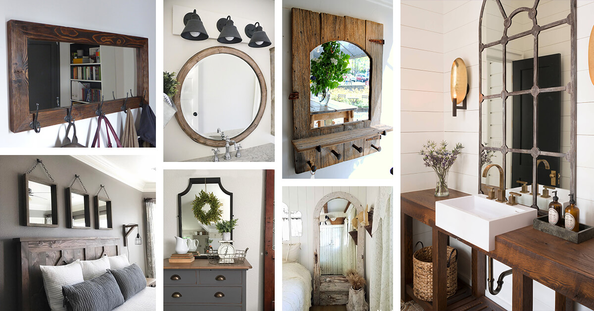 25 Best Farmhouse Mirror Ideas And Designs For 2019