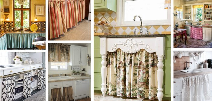 24 Best Kitchen Cabinet Curtain Ideas And Designs For 2021