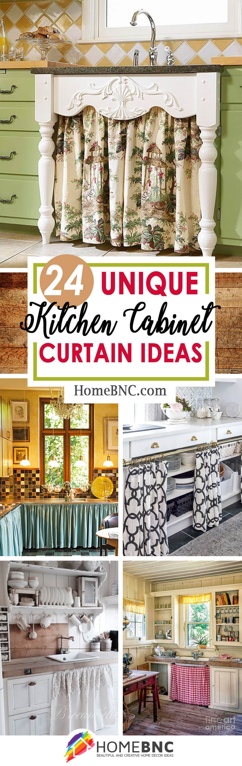 Kitchen Cabinet Curtain Ideas