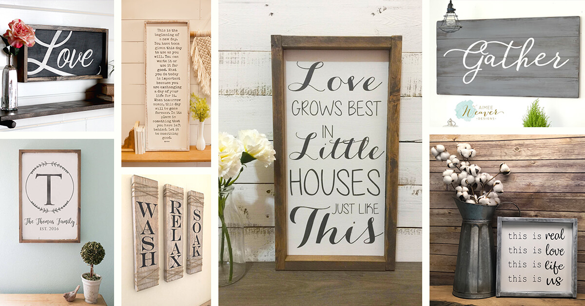 27 Best Modern Farmhouse Sign Ideas And Designs For 2019