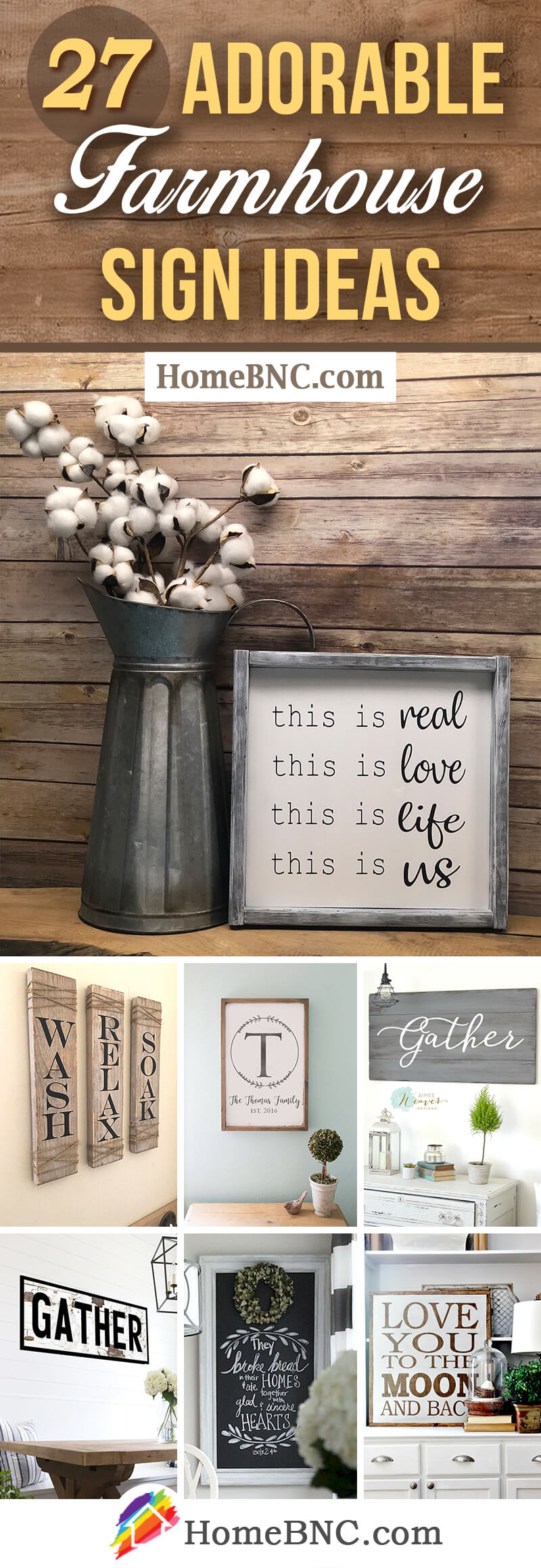 Modern Farmhouse Sign Ideas