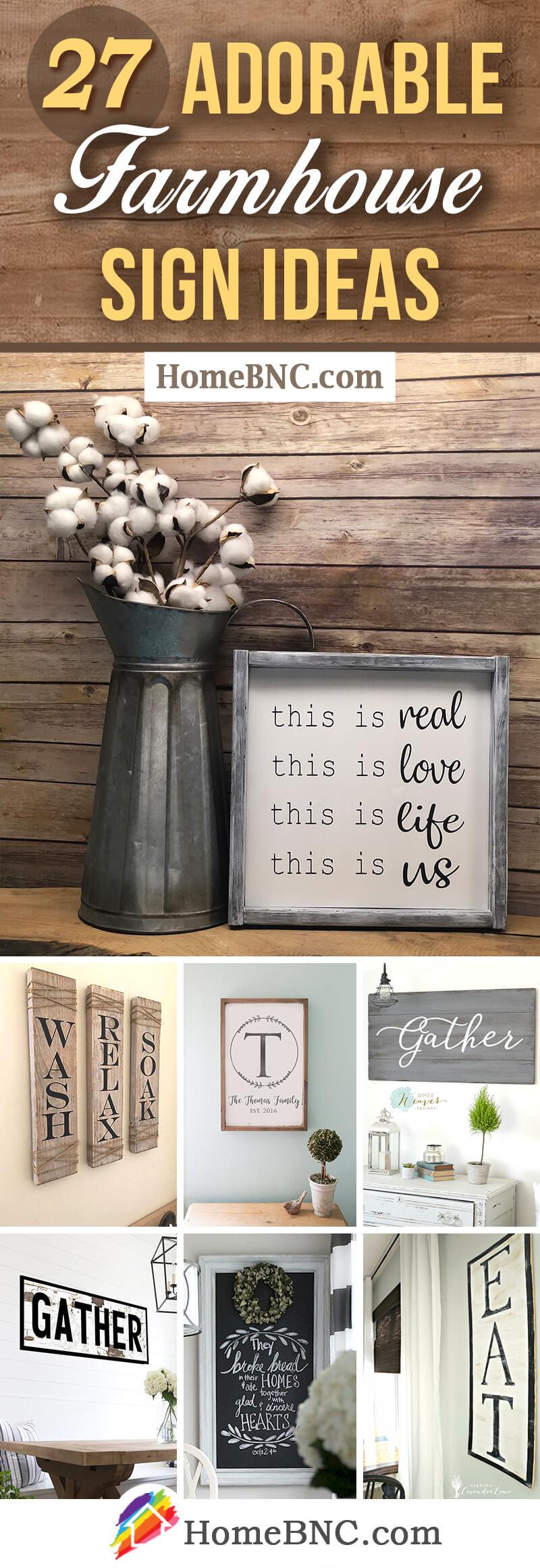 Modern Farmhouse Sign Ideas