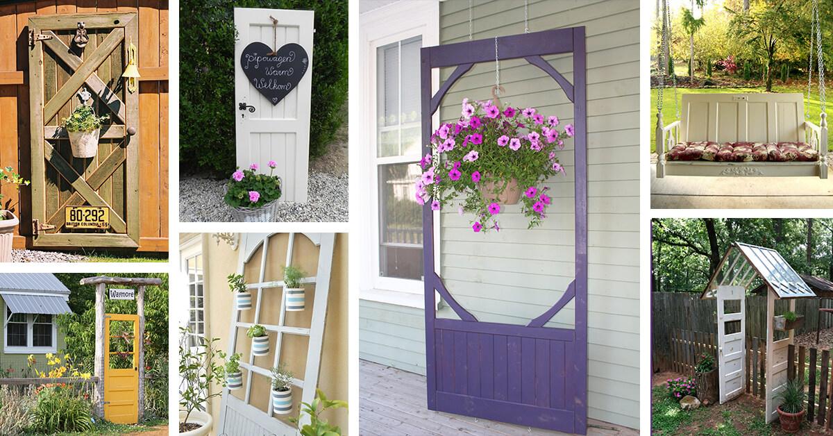 27 Best Old Door Outdoor Decor Ideas and Designs for 2019