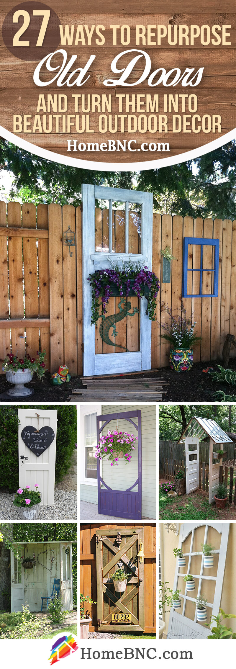 Old Door Outdoor Decor Ideas
