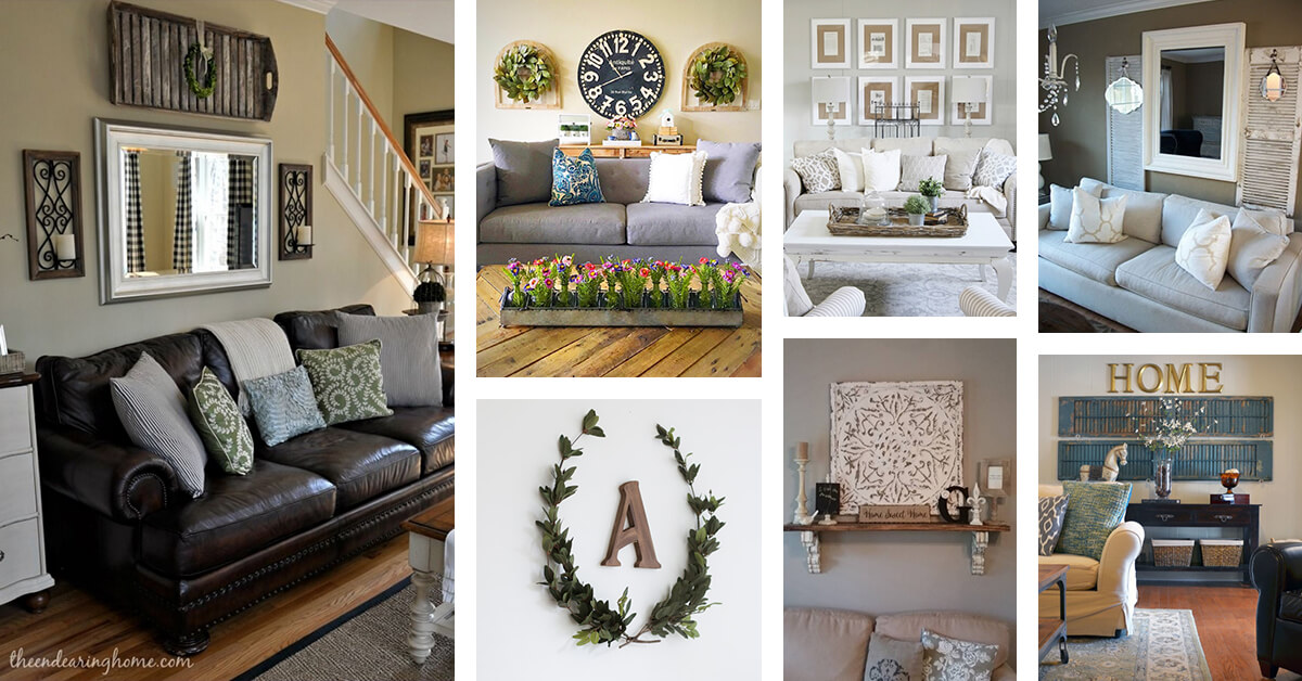 33 Best Rustic Living Room Wall Decor Ideas And Designs For 2019