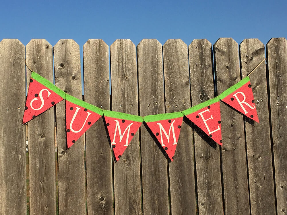 "Whimsical Watermelon ""Summer"" Banner"