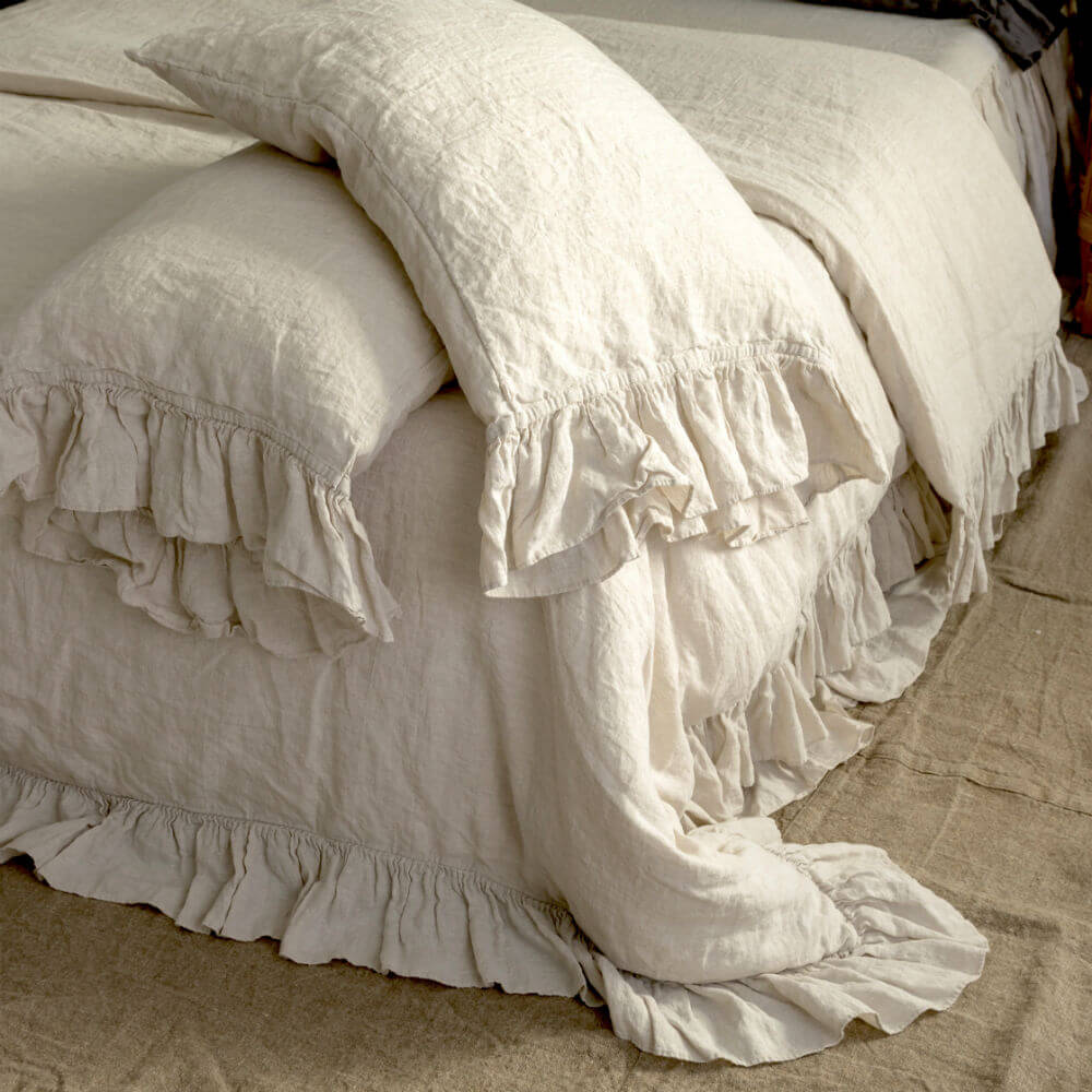 Ruffled Duvet Cover Bed Linen Set