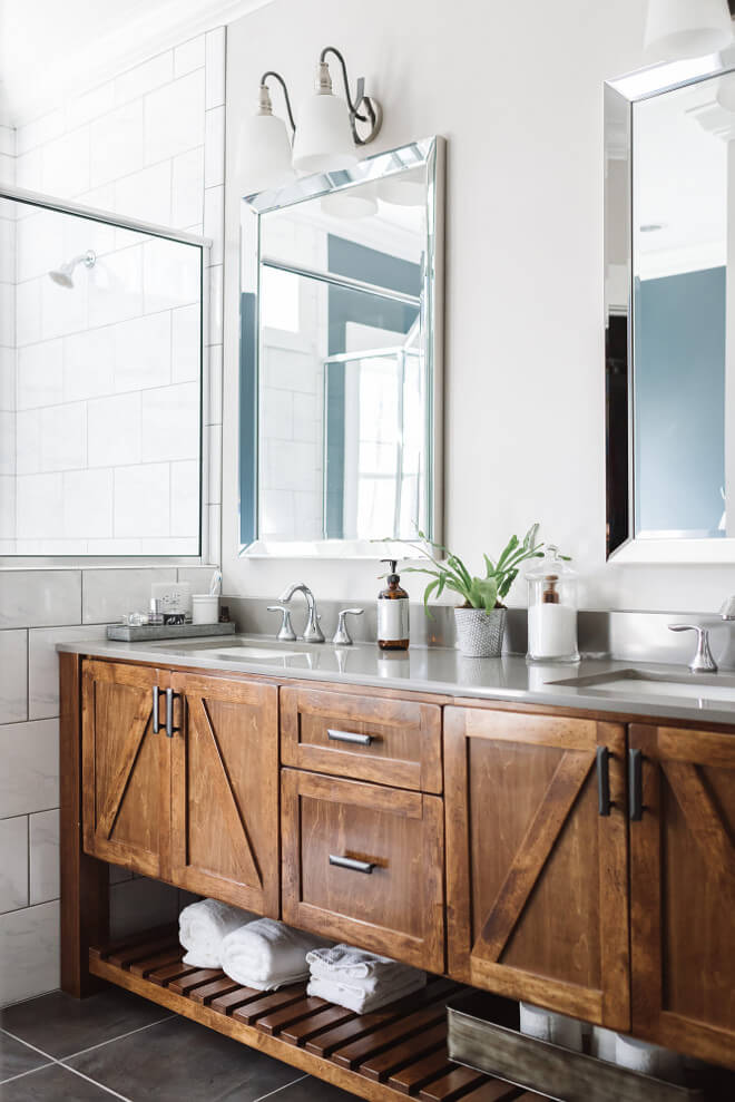 Bathroom Vanity Plans: 35 Best Rustic Bathroom Vanity Ideas And Designs For 2019