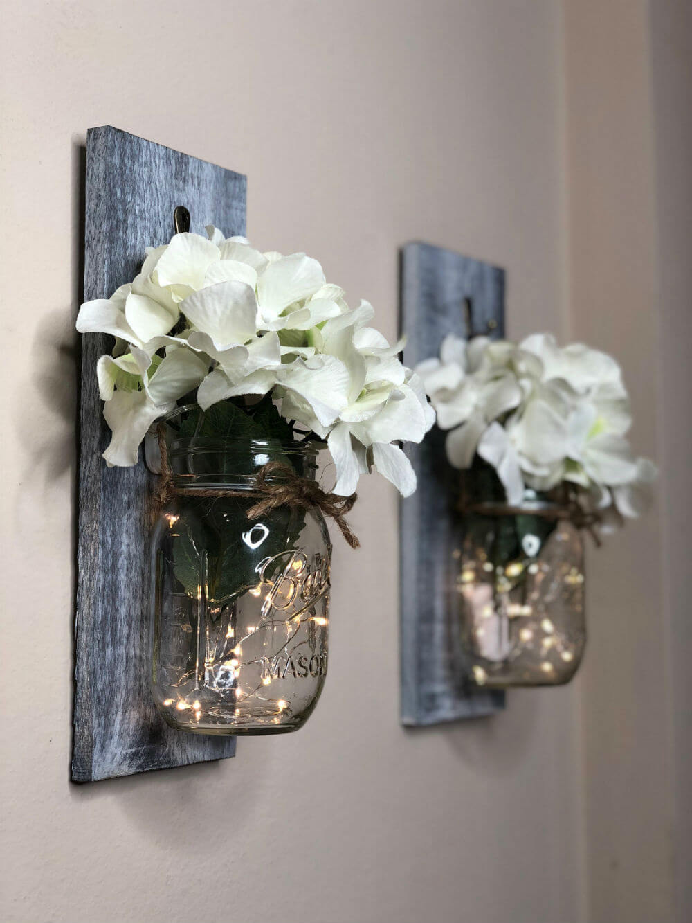 Elegantly Simple Hanging Mason Jar Sconces