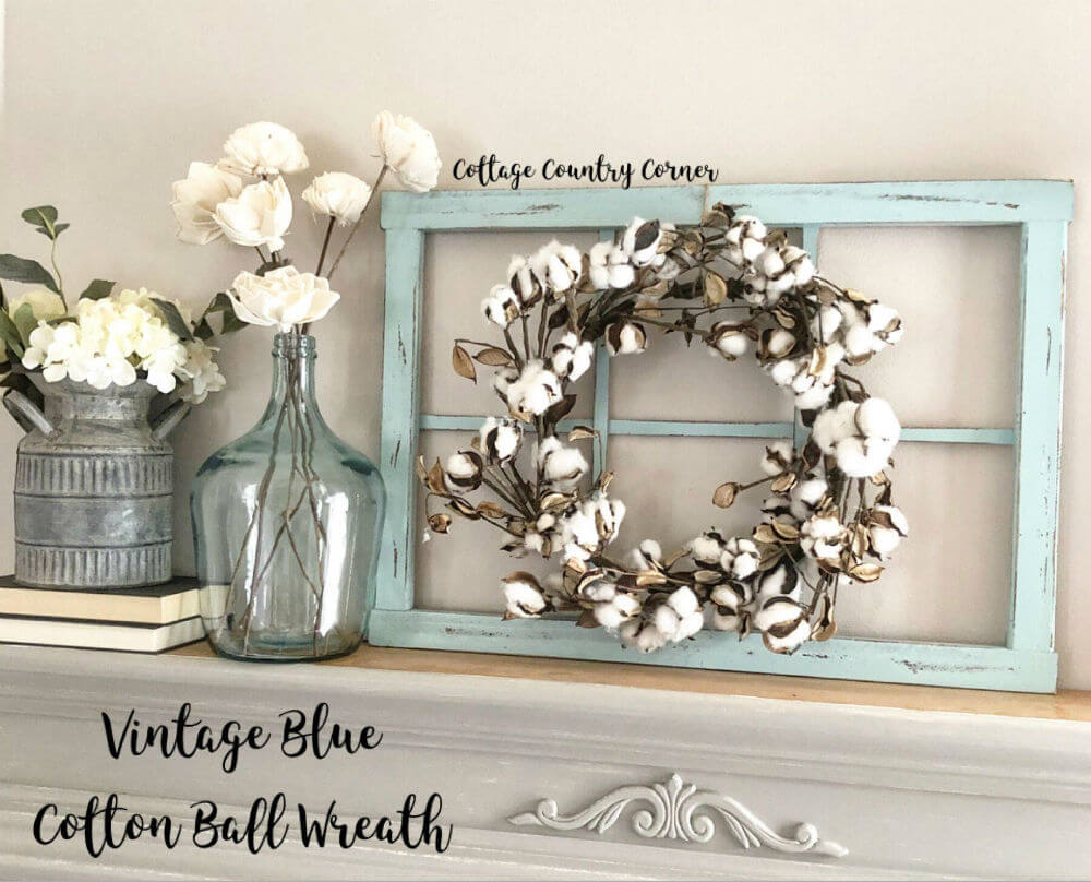 6-Pane Window Frame and Wreath — Homebnc