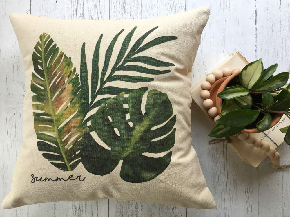 Tropical Canvas Printed Pillow