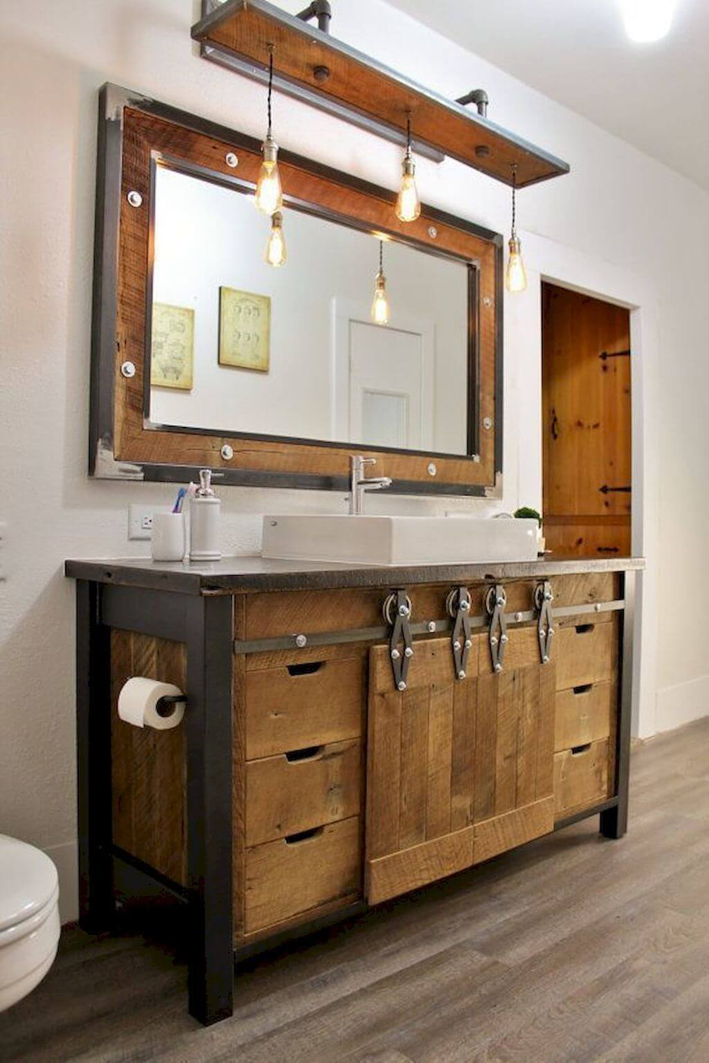50 Rustic Vanities For Small Bathrooms