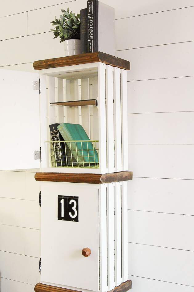 Add a Door for DIY Crate Lockers