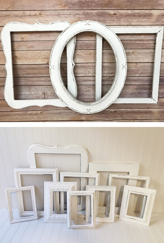 White Classic Picture Frame Set