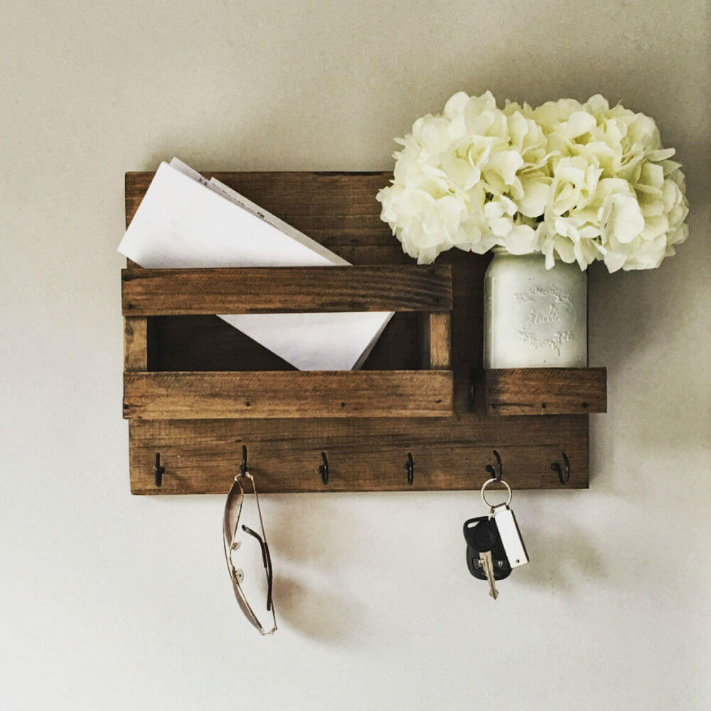 Farmhouse Rustic Mail Product and Holder