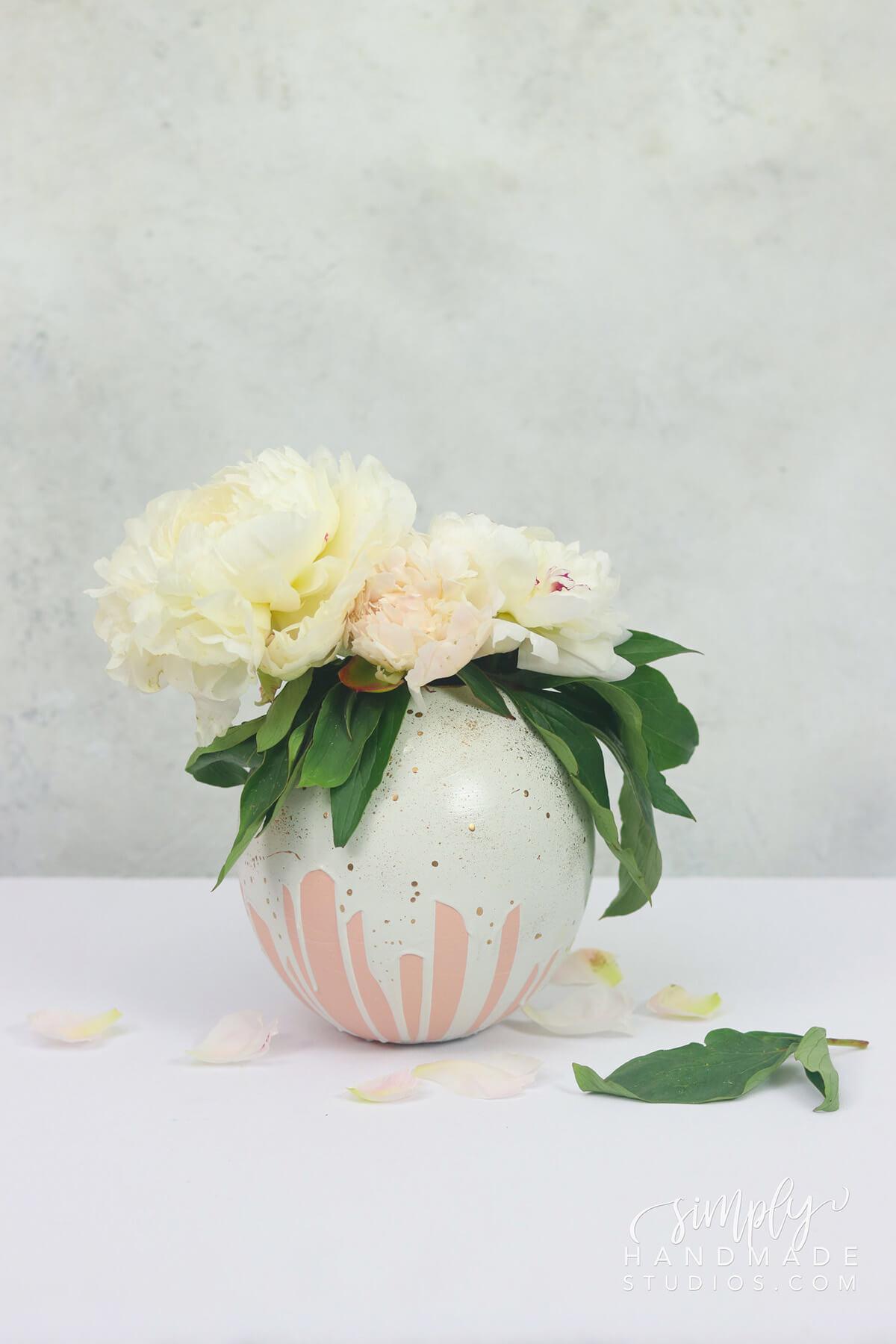 Cute Handmade Plaster Flower Vase
