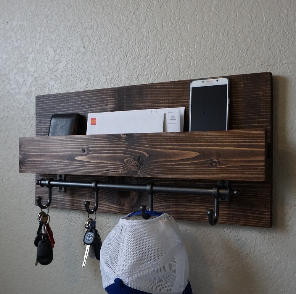 Modern and Rustic Entryway Organizer