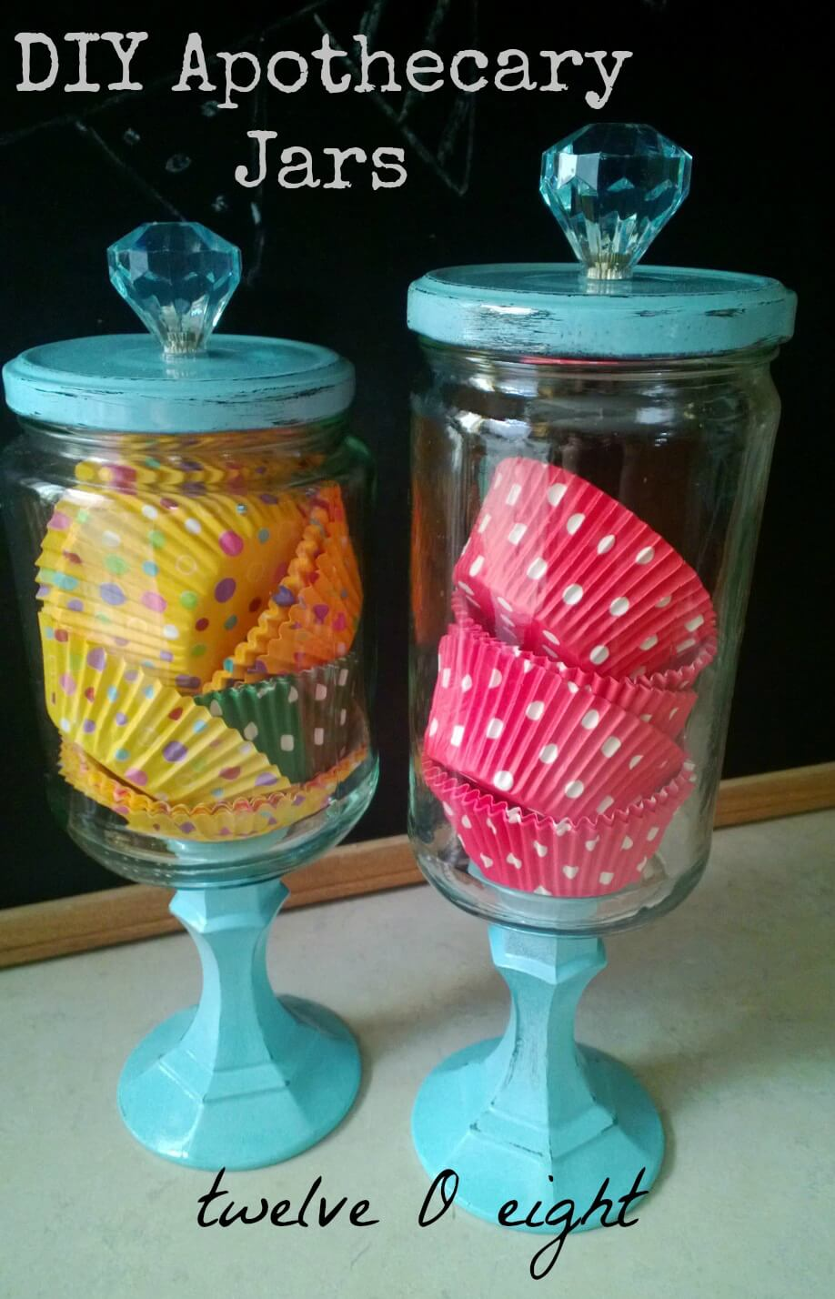 Baking Accessories in Apothecary Jars