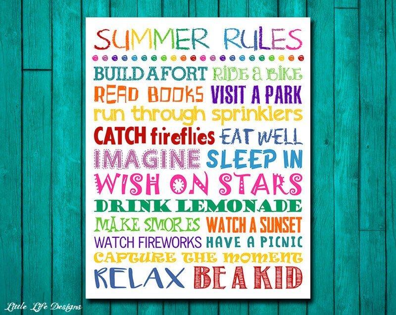 Summer Bucket List Art