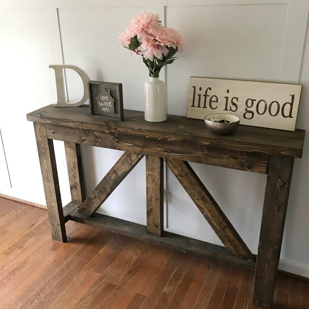 Solid Wood Entryway Table