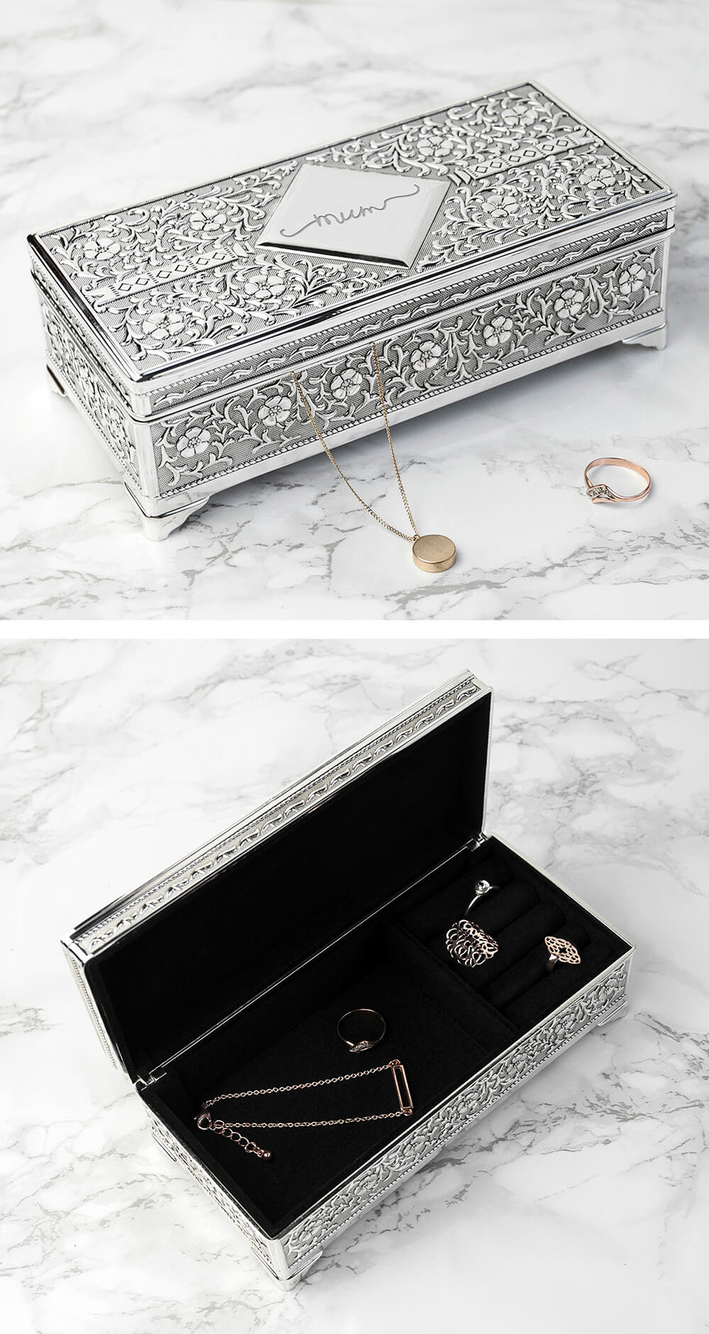 Vintage Trinket and Ring Box Arranger