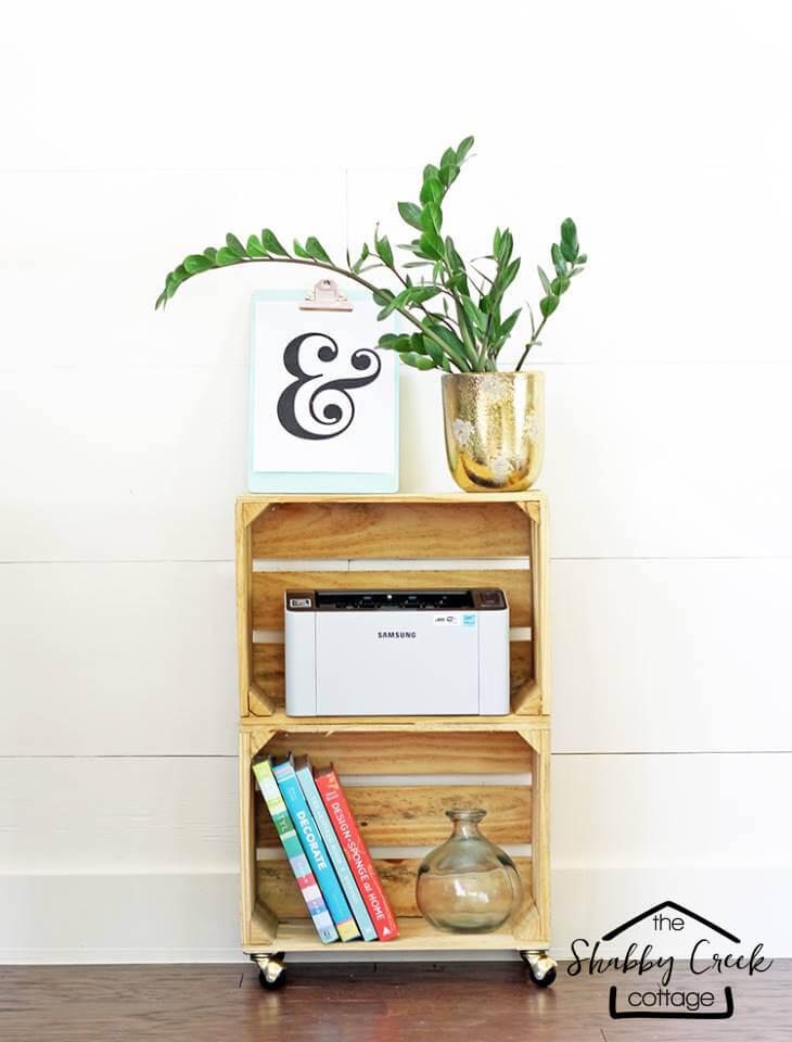 13 Kreative DIY Holzkistenregale, um das Durcheinander schön zu beruhigen