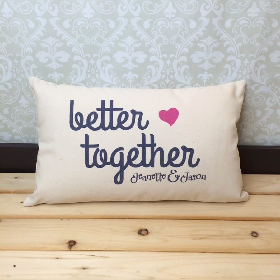 Customizable 'Better Together' Multipurpose Pillow