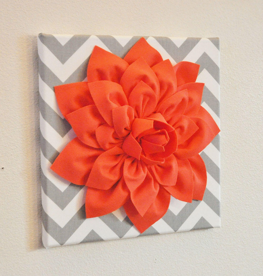 Sweet Coral Dahlia Canvas