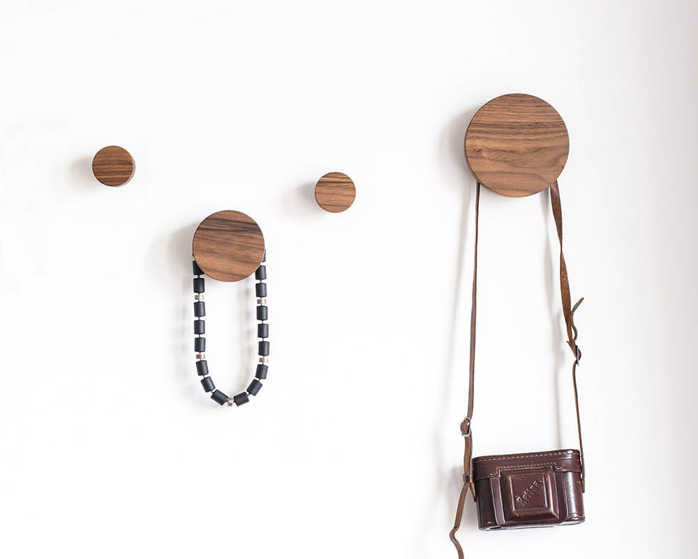 Practical Wooden Hooks Come in Circles