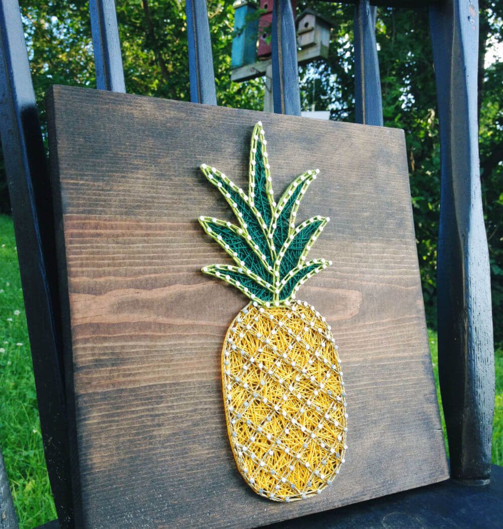 Fun Pineapple String Art