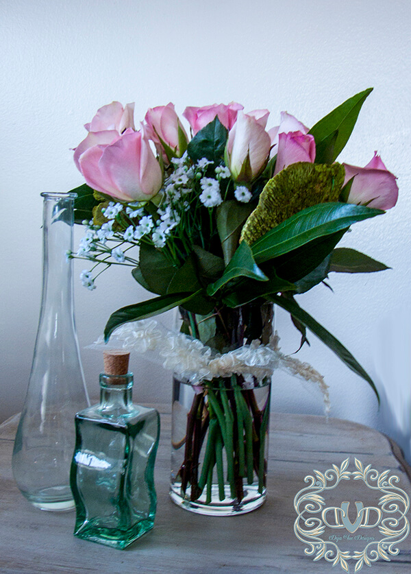 Discount Rose and Greenery Flower Display