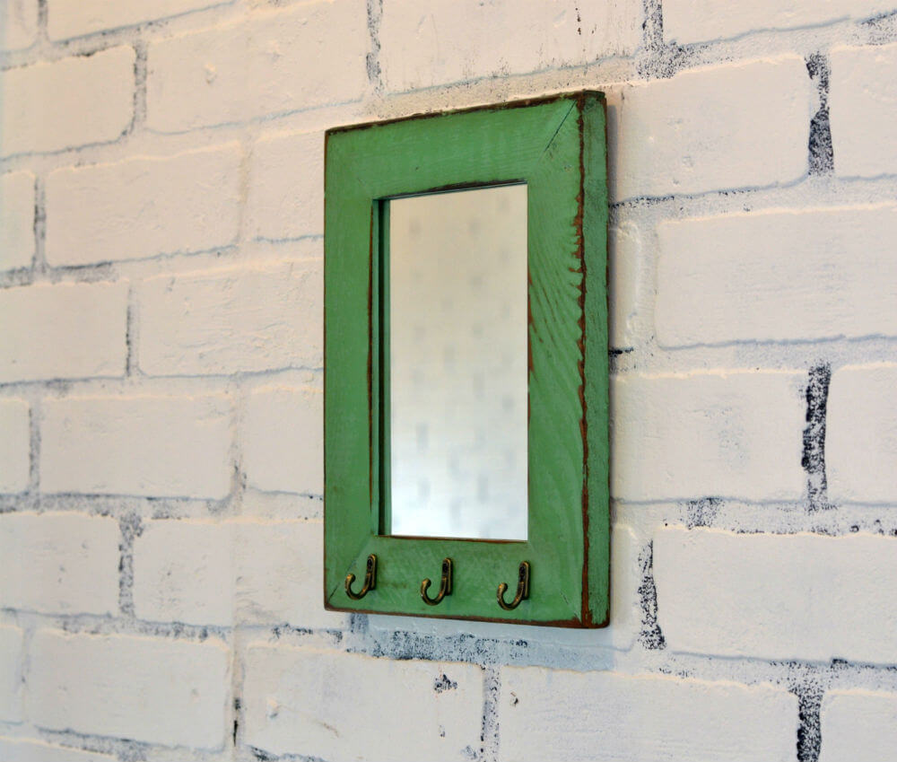 Reclaimed Cedar Mirror and Key Holder