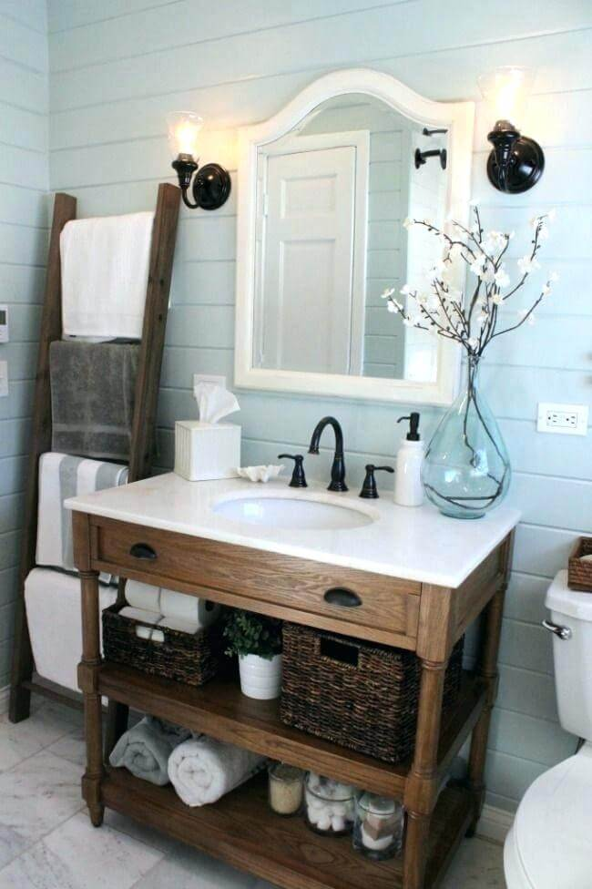 His And Hers Rustic Weathered Wood