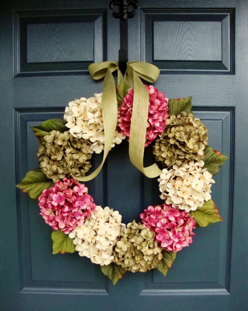 Lush Hydrangea Wreath