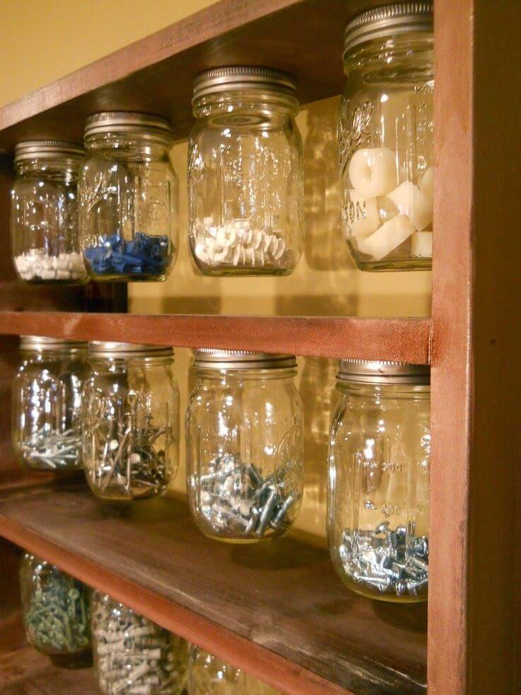 32 Best Mason Jar Organizer Ideas And Projects For 2019