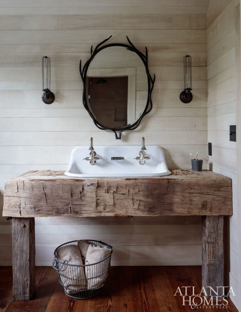Barn Wood Rustic Toilet-table for Bathrooms