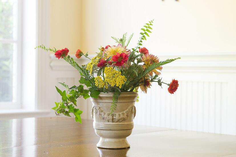 Diverse Freshly Cut Bowl of Flowers